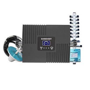 GSM 2G/4G усилитель сигнала репитер GOBOOST GB17, DCS 1800МГц / 4G 2600МГц, комплект с 10 м кабелем и