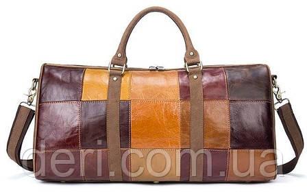 Дорожная сумка Crazy 14779 Vintage Разноцветная, Коричневый, фото 2