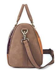 Дорожная сумка Crazy 14779 Vintage Разноцветная, Коричневый, фото 3