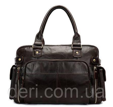 Дорожная сумка Vintage 14755 Коричневая, Коричневый, фото 2