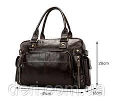 Дорожная сумка Vintage 14755 Коричневая, Коричневый, фото 3