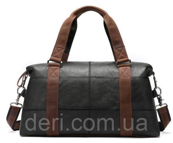 Дорожная сумка комбо Vintage 14773 Черная, Черный