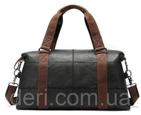 Дорожная сумка комбо Vintage 14773 Черная, Черный, фото 2