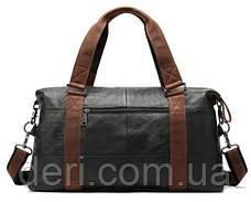Дорожная сумка комбо Vintage 14773 Черная, Черный, фото 3