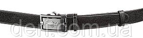 Ремень тонкий автомат STINGRAY LEATHER 18649 из натуральной кожи морского ската Черный, Черный, фото 2
