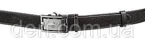 Ремінь тонкий автомат STINGRAY LEATHER 18649 з натуральної шкіри морського скату Чорний, Чорний, фото 2