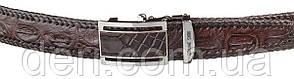 Ремень-автомат CROCODILE LEATHER 18171 из натуральной кожи крокодила Коричневый, Коричневый, фото 2
