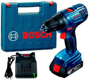 Акумуляторна дриль-шуруповерт Bosch Professional GSR 180-Li + з/у AL 1814 CV + GBA 18V 1.5 Ah + валіза (06019F8101)