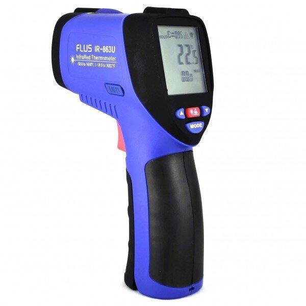 Пірометр-реестратор 50:1 (-50…+1650 ºС) USB FLUS IR-863U