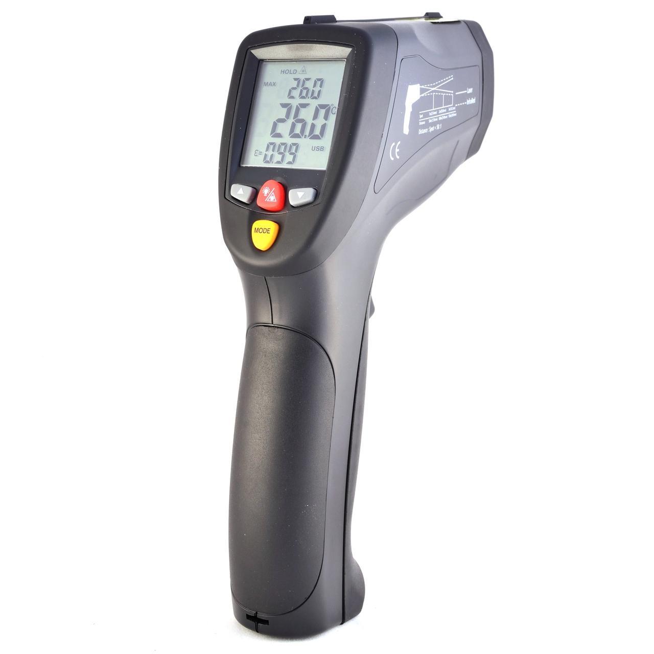Пірометр-реєстратор 50:1 (-50…1200 °С) CEM DT-8868