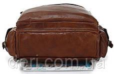 Рюкзак Vintage 14156 з шкіри Коричневий, Коричневий, фото 3