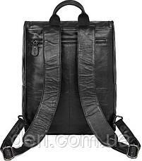 Рюкзак Vintage 14523 кожаный Черный, Черный, фото 2
