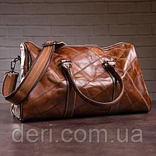 Дорожньо-спортивна сумка Vintage 14752 Коричневий, Коричневий, фото 2