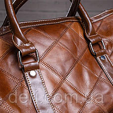 Дорожно-спортивная сумка Vintage 14752 Коричневая, Коричневый, фото 3
