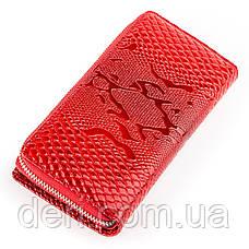 Гаманець-клатч жіночий шкіряний червоний, фото 2