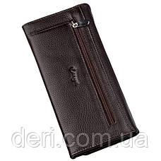 Жіночий шкіряний гаманець флотар коричневий, фото 2