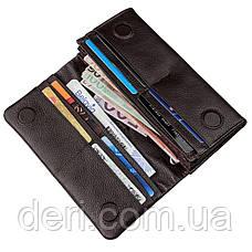 Жіночий шкіряний гаманець флотар коричневий, фото 3