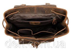 Рюкзак Vintage 14668 кожаный Коричневый, Коричневый, фото 3