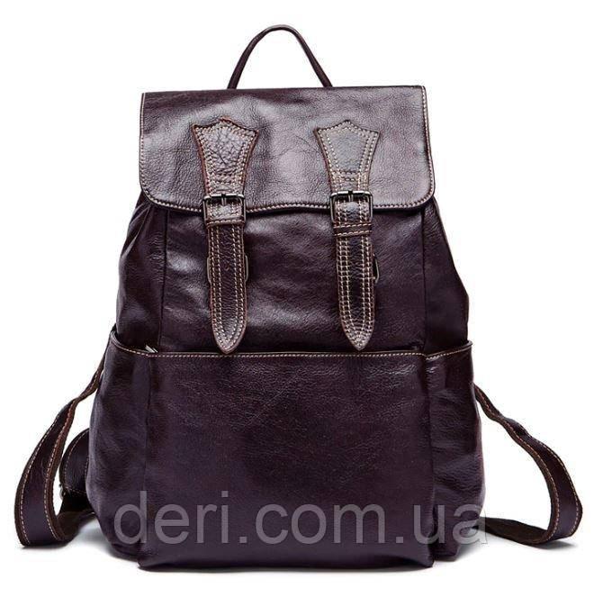 Рюкзак Vintage 14714 шкіряний Сливовий, Бордовий