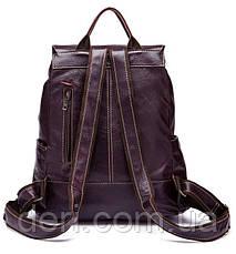 Рюкзак Vintage 14714 шкіряний Сливовий, Бордовий, фото 2