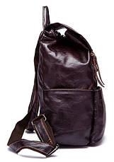 Рюкзак Vintage 14714 шкіряний Сливовий, Бордовий, фото 3
