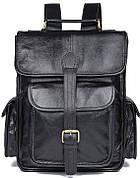 Рюкзак Vintage 14967 кожаный Черный, Черный