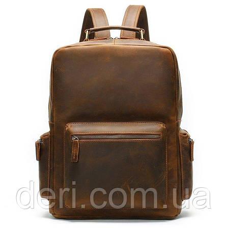 Рюкзак винтажный для ноутбука Vintage 14712 кожаный Коричневый, Коричневый, фото 2