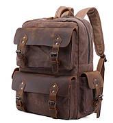 Рюкзак дорожный текстильный Vintage 20055 Коричневый