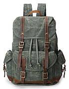 Рюкзак дорожный текстильный Vintage 20056 Зеленый