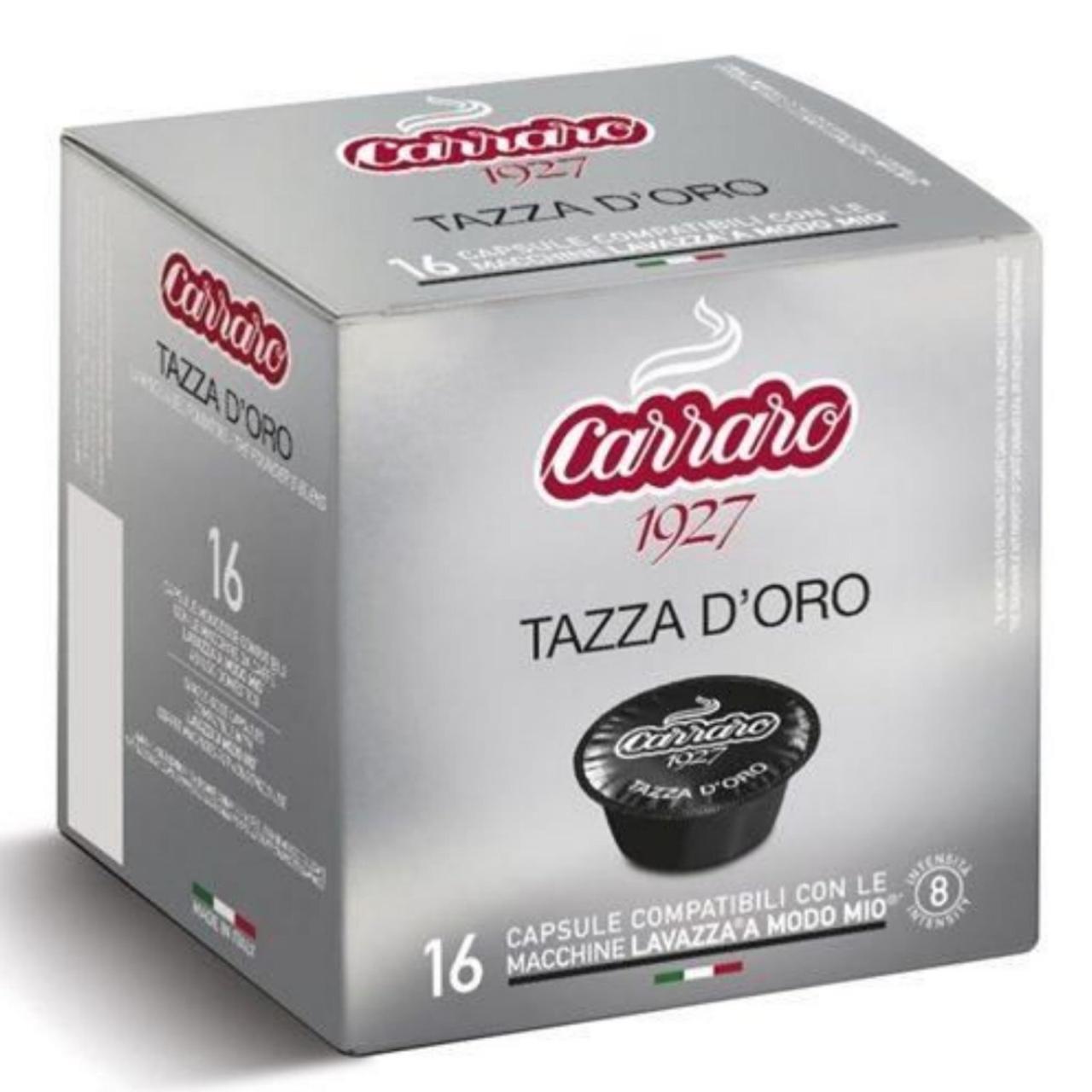 Кофе в капсулах Carraro TAZZA D'ORO 16шт