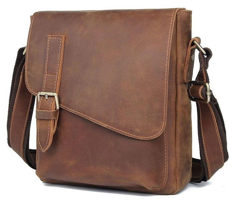 Шкіряна чоловіча сумка Vintage 20206 Коричневий