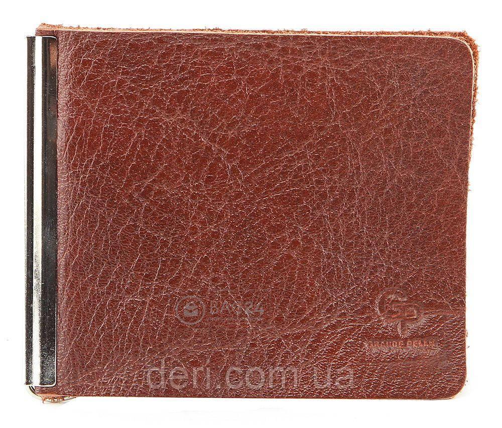Затиск для грошей GRANDE PELLE 00226 Коричневий, Коричневий