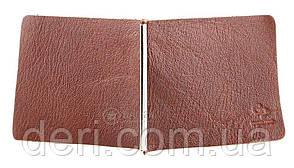 Затиск для грошей GRANDE PELLE 00226 Коричневий, Коричневий, фото 2