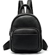 Рюкзак компактный женский Vintage 20053 Черный, Черный