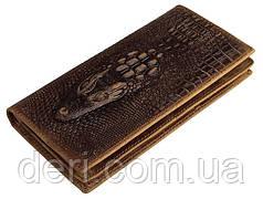 Эксклюзивный вертикальный бумажник в экзотическом стиле из натуральной кожи