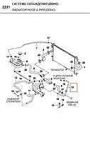 Шланг дроссельной заслонки NEXIA 1.5 DOHC GM Корея (ориг) 96181584