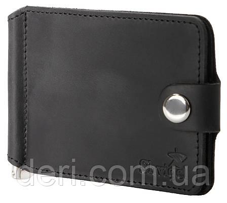 Затискач для купюр SHVIGEL 13787 з вінтажній шкіри Чорний, Чорний, фото 2