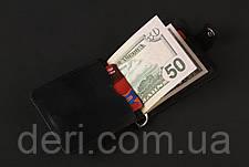 Затискач для купюр SHVIGEL 13787 з вінтажній шкіри Чорний, Чорний, фото 3