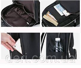 Рюкзак нейлоновый Vintage 14808 Черный, Черный, фото 3