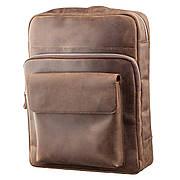 Рюкзак унисекс из матовой кожи SHVIGEL 11175 Коричневый, Коричневый