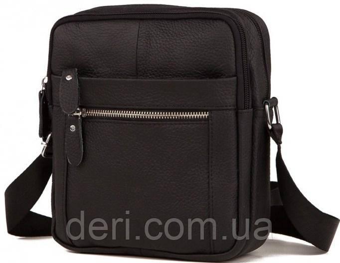 Мессенджер мужской Vintage 14636 кожаный Черный, Черный