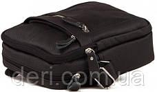 Мессенджер мужской Vintage 14636 кожаный Черный, Черный, фото 3