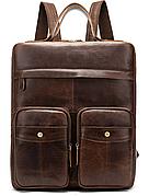 Рюкзак-сумка 2 в 1 для ноутбука Vintage 20035 Коричневый, Коричневый