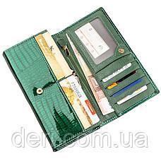 Современный женский кошелек зеленый, фото 3