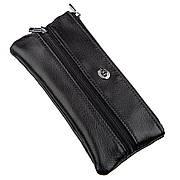 Чоловіча компактна ключниця ST Leather 18838 Чорний, Чорний