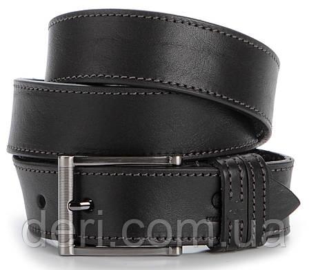 Стильный мужской ремень из кожи GRANDE PELLE 00787 Черный, Черный, фото 2