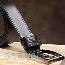 Стильный мужской ремень из кожи GRANDE PELLE 00787 Черный, Черный, фото 3