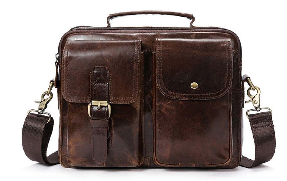 Сумка горизонтальная мужская Vintage 14693 Коричневая