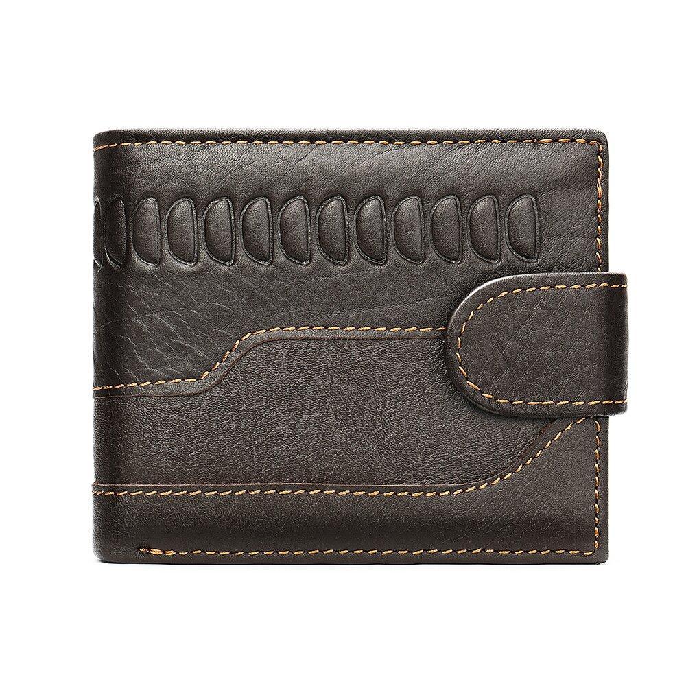 Мужской кошелек с тиснением 20233 Vintage Коричневый