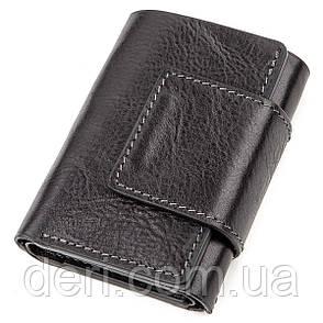 Строгое портмоне унисекс из гладкой кожи черный  GRANDE PELLE, фото 2